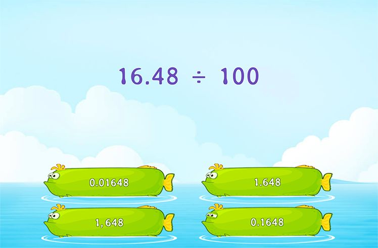 Divide the Decimal by Power of 10