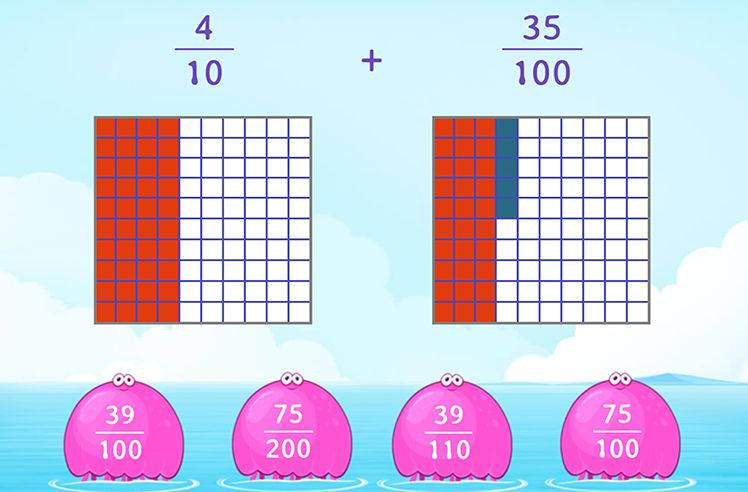 Add Tenths and Hundredths Using Models