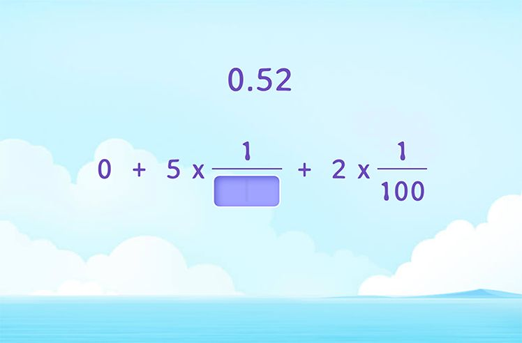 Complete the Expanded Fraction Form