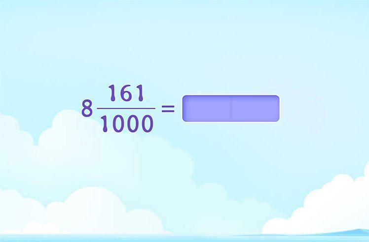 Fractions to Decimals (Denominator 10/100/1000)