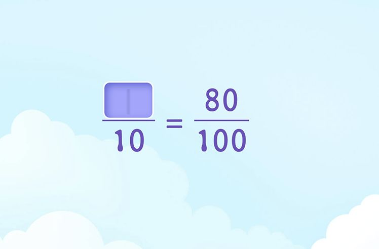 Fill in the Number That Makes Tenths and Hundredths Equivalent