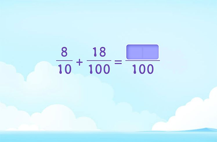 Fill in to Complete the Addition of Decimal Fractions