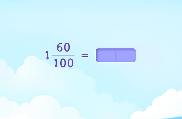 Fill in to Show Equivalence Between Mixed and Decimal Numbers