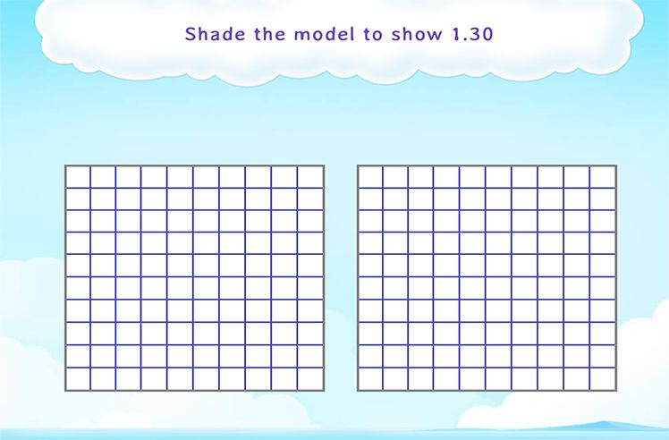 Shade Parts to Represent Decimals Greater than 1