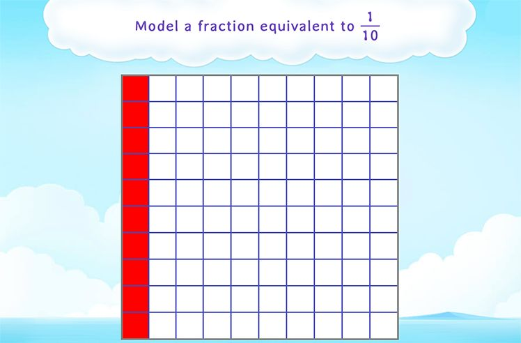 Color Parts to Show Tenths as Hundredths
