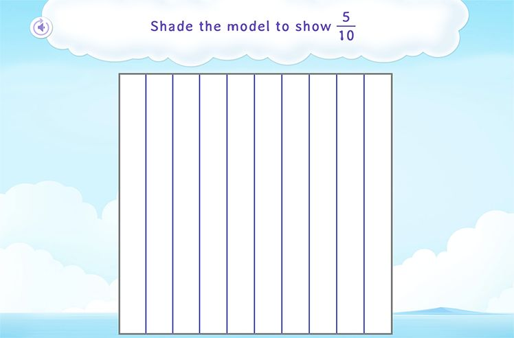 Shade the Parts To Show the Given Tenths