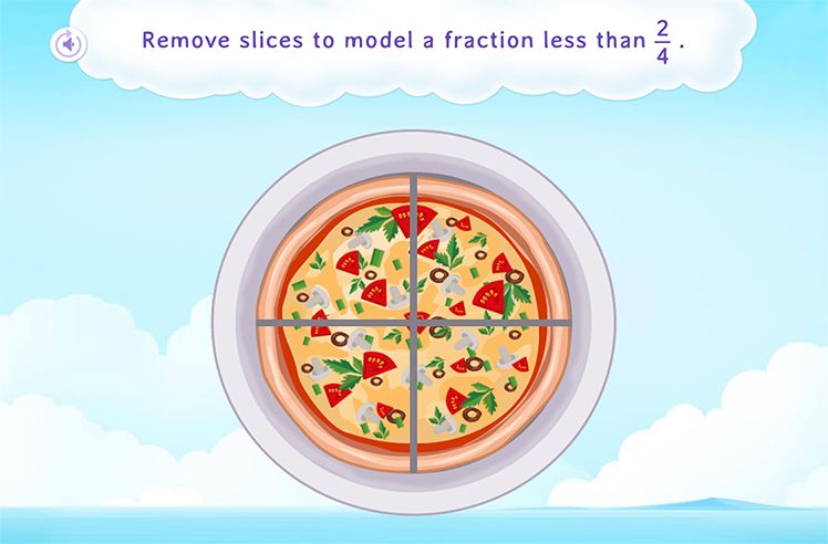Compare and Model Smaller Fraction
