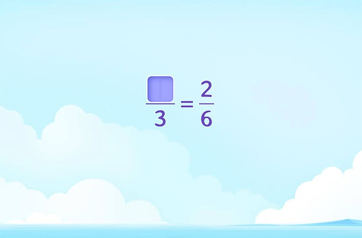 Divide and Complete the Equivalent Fraction