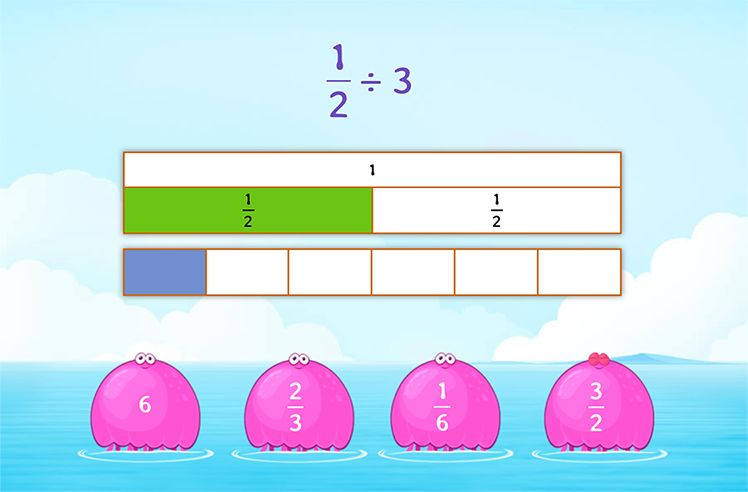 Divide Unit Fraction by Whole Number using Models
