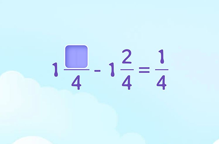 Fill in to Find the Difference Between Mixed Numbers