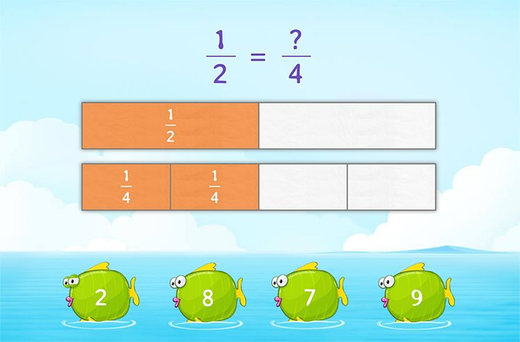 Complete Equivalent Fractions
