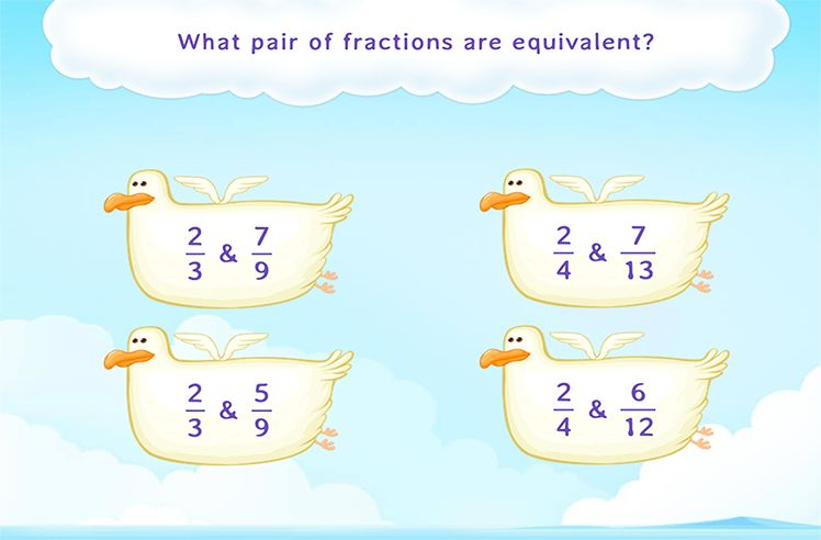 Select the Pair of Equivalent Fractions