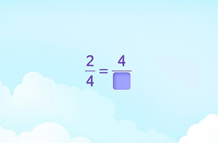 Multiply and Complete the Equivalent Fraction