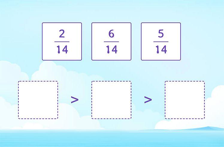 Order Fractions with Same Denominator