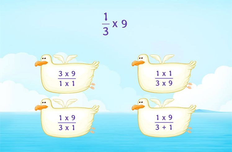 Simplify the Product of Whole Number and Fraction