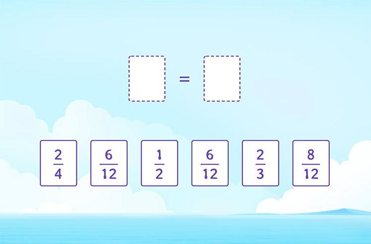 Select a Pair of Equivalent Fractions