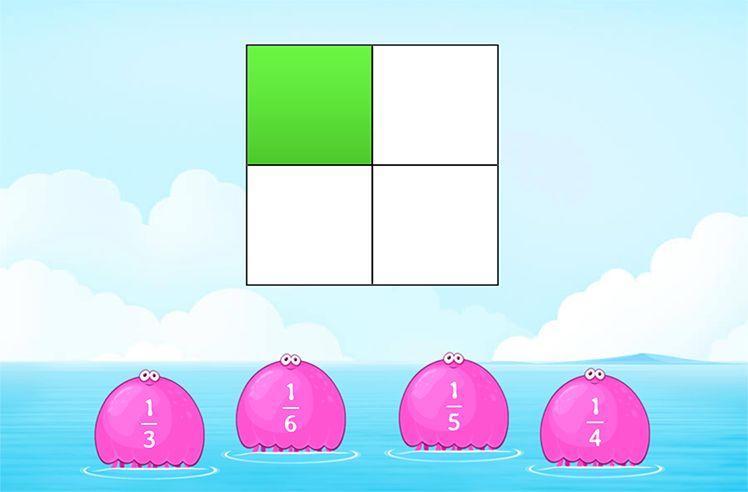 Identify Unit Fraction Using Visual Model