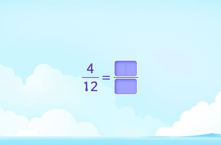 Fill the blank to make an Equivalent Fraction