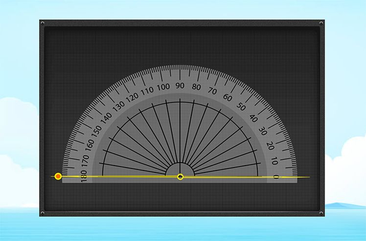 Draw Angles Using a Protractor