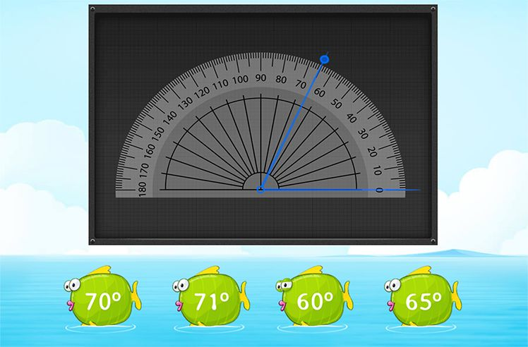Measure the Angles Using Protractor