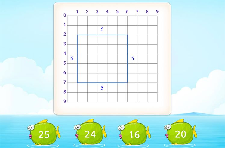 Find the Perimeter of the Shapes Using Grids
