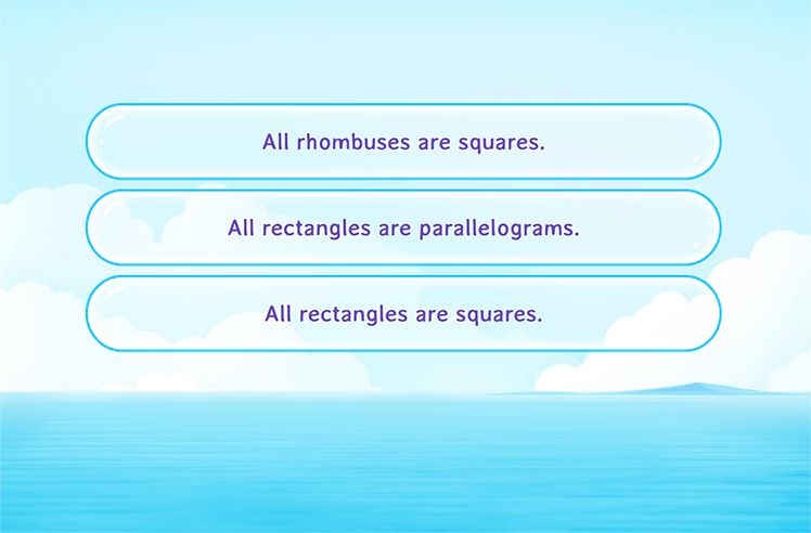 Choose the Correct Fact Related to Shapes