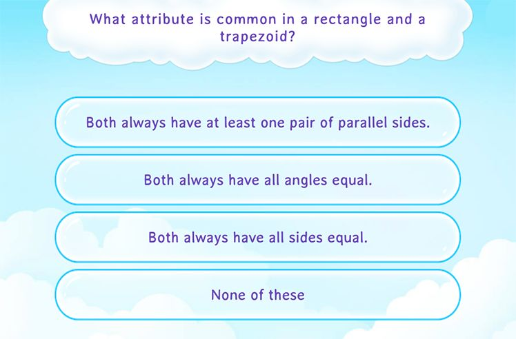 Identify Common Attributes in Different Shapes