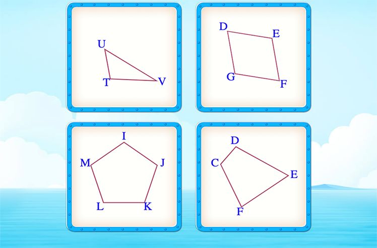 Identify the Shape Which has At Least One Pair of Parallel Sides