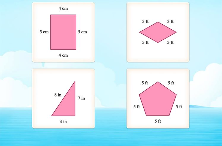 Identify Kite, Rhombuses and Parallelograms