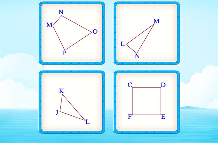 Choose the Shape that Matches the Given Condition