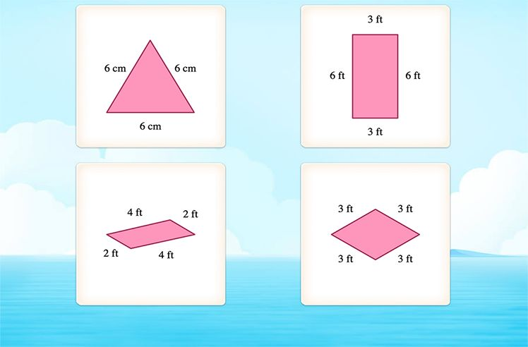 Identify Kite, Squares and Rectangles