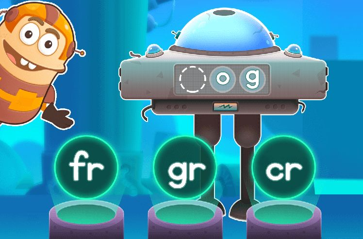 Build Words With Initial R Blends - fr & gr