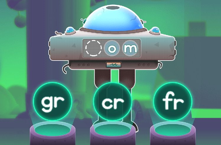 Build Words With Initial R Blends - gr & cr