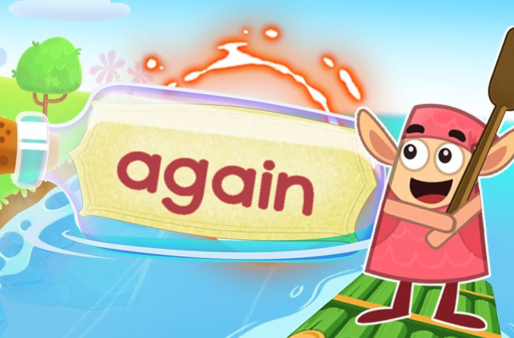 Practice the Sight Word: again