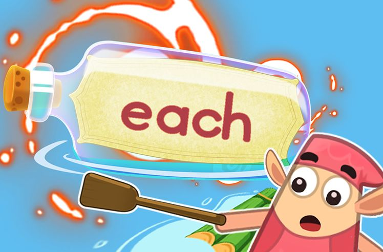 Practice the Sight Word: each