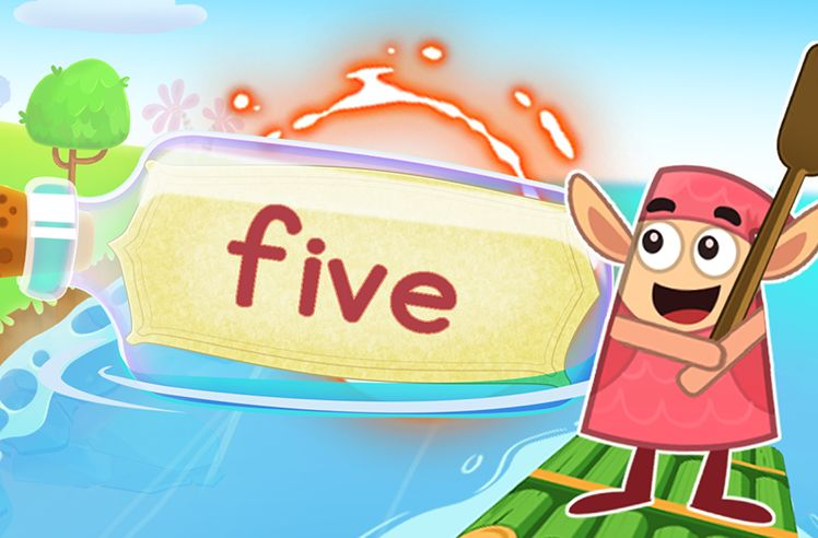 Practice the Sight Word: five