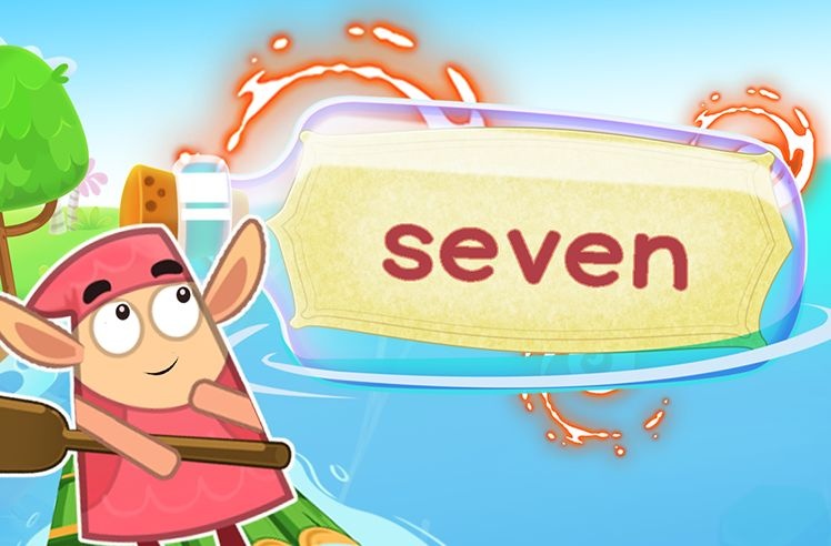 Practice the Sight Word: seven
