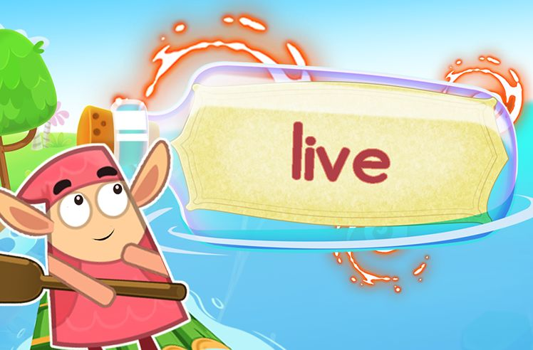 Practice the Sight Word: live