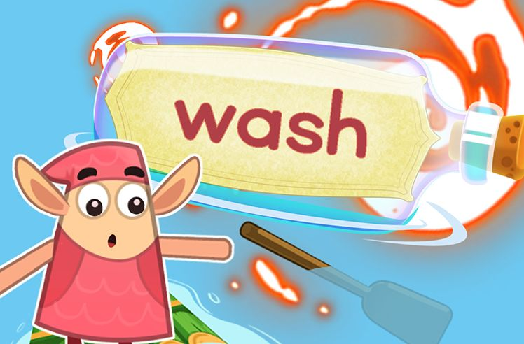 Practice the Sight Word: wash