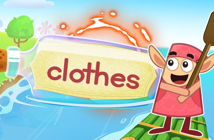 Practice the Sight Word: clothes