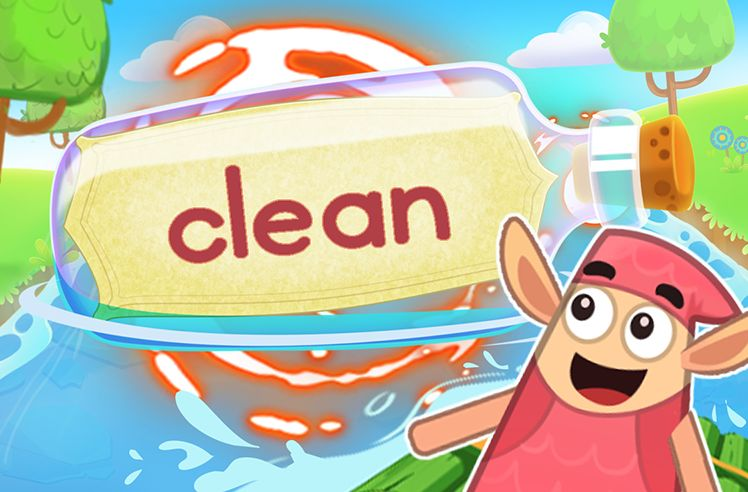 Practice the Sight Word: clean