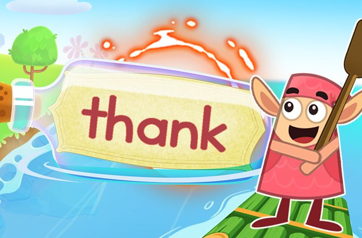 Practice the Sight Word: thank