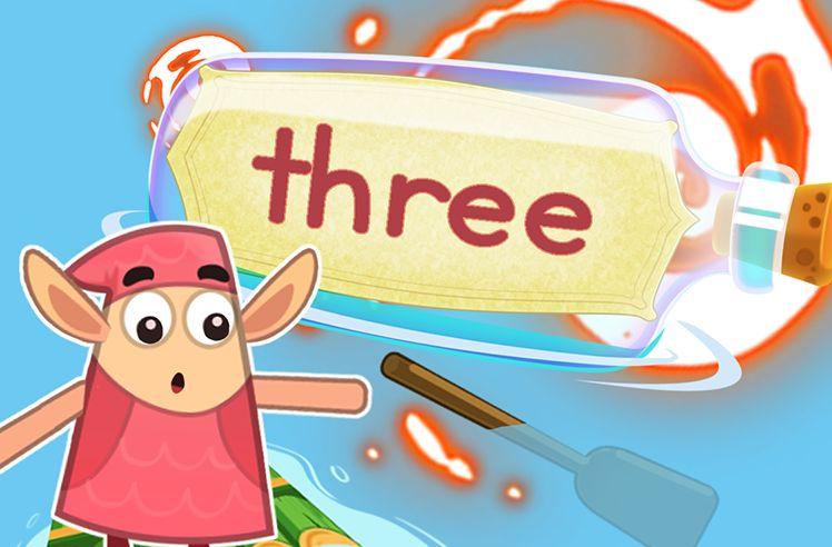 Practice the Sight Word: three
