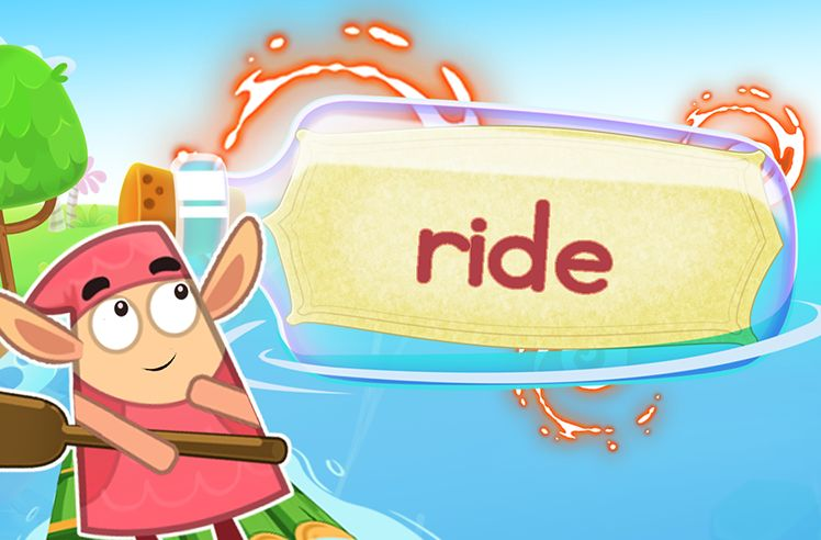 Practice the Sight Word: ride
