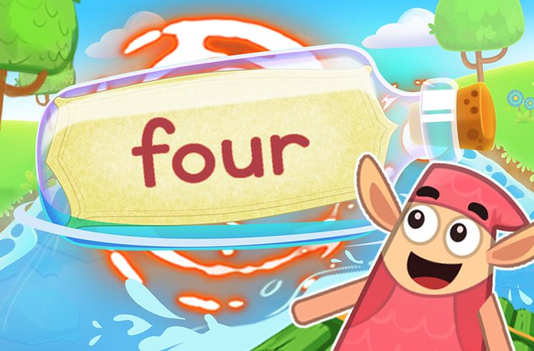 Practice the Sight Word: four