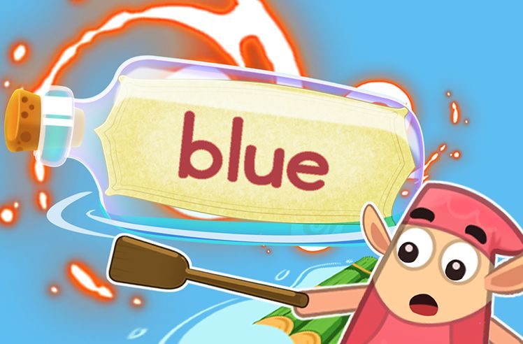 Practice the Sight Word: blue