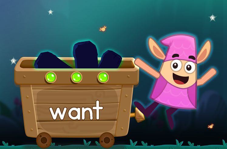 Learn the Sight Word: want