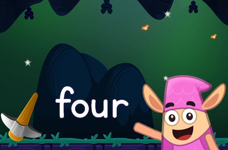 Learn the Sight Word: four