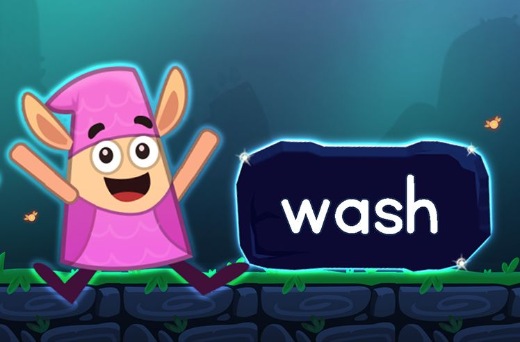 Learn the Sight Word: wash