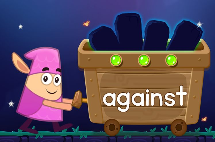 Learn the Sight Word: against